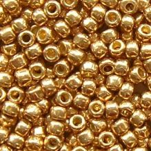 Toho 8/0 Seed Beads Permanent Finish Galvanised Golden Fleece PF592 - 10 grams